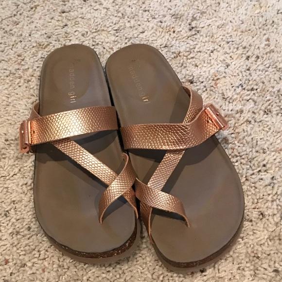 8451fda3170 Madden Girl Shoes - Madden Girl Birkenstock look a likes (rose gold)